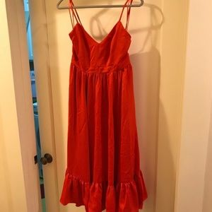 J. Crew Drapey Spaghetti Strap Dress NWT Tall 6